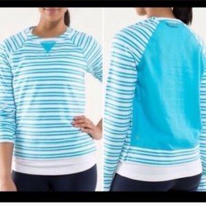 Lululemon l Voyage Striped Crew Neck Sweatshirt